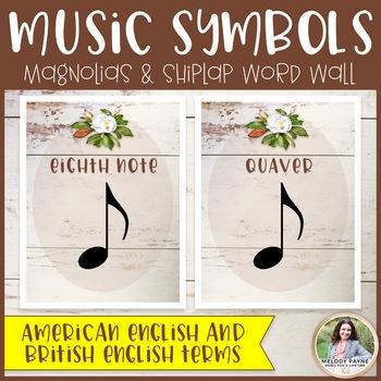 Music Symbols & Dynamics Word Wall Posters {Magnolia Music Class Decor}