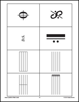 Music Symbols Flash Cards