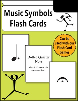 image regarding Printable Musical Note Flash Cards called Songs Symbols Flash Playing cards