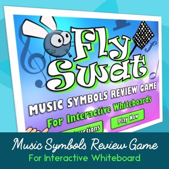 Music Symbols Fly Swat Review Game for Interactive Whiteboard & SmartBoard