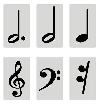 Music Symbols Memory Card Game