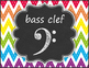 Music Symbols, Notes, & Rests Posters - Rainbow Chevron Chalkboard