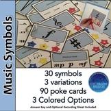 Music Symbols Poke Cards