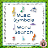 Music Word Search: Music Theory Game - Music Symbols Word Search: Music Quiz