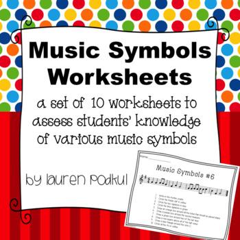 Music Symbols Worksheets