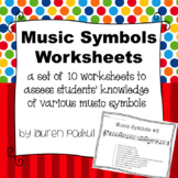 Music Symbols Worksheets