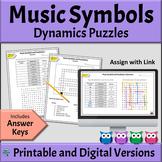 Music Symbols Worksheets - Dynamics   DIGITAL & PRINTABLE Versions