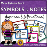 Music Symbols and Notes {Music Room Décor} American & International