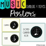 Music Symbols and Notes posters!  ~ Music room decor~