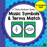 """Music Symbols and Terms Match (A """"Find a Partner"""" Game) – 2 Sets!"""