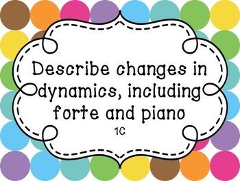 Music Standards TEKS: 1st Grade