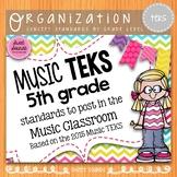 Music Standards TEKS: 5th Grade