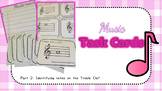 Music Task Cards (Identifying notes on the Treble Clef)