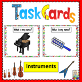Music Task Cards: Instruments