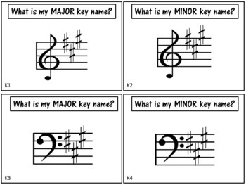 Music Task Cards: Key Signatures