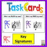 Music Task Cards: Key Signatures
