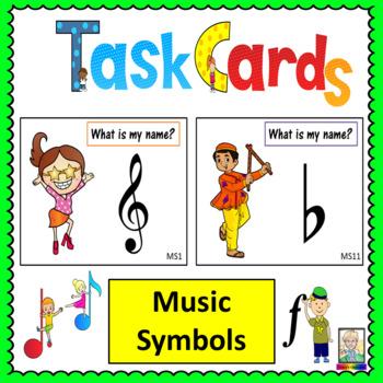 Music Task Cards: Music Symbols