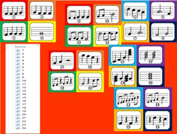 Music Task Cards: Pitch and Duration With mp3s