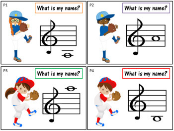 Music Task Cards: Pitches