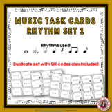 Music Rhythm Task Cards: Rhythm Set 1