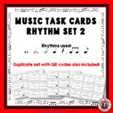 Music Task Cards: Rhythm Set 2