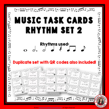 Music Task Cards: Rhythm Set 2