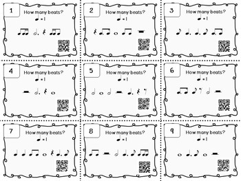 Music Task Cards: Rhythm Set 4