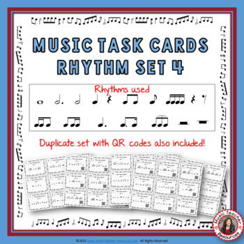 Music Rhythm Task Cards: Rhythm Set 4