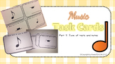 Music Task Cards (Types of rests and notes)