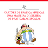 Music Task Cards to Practice Scales in Portuguese