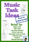 Music Choice Boards or ONLINE LEARNING (task cards, bingo)