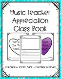 Music Teacher Appreciation Opinion Class Book