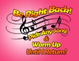 Music Teacher - Be Right Back Sign