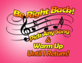 Music Teacher - Be Right Back Sign