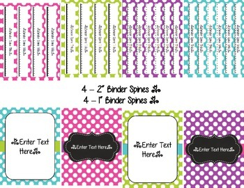 Teacher Binder: Covers, Spines & Forms (Editable in Word & PPT)
