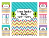 Stripe & Chevron Music Teacher Binder 2018-2019 (Editable) UPDATED YEARLY!