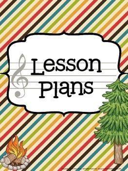 Music Teacher Binder - Camping Theme