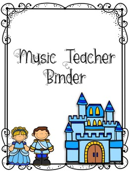 Music Teacher Binder Covers - Fairy Tale