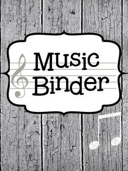 Music Teacher Binder Covers - Farmhouse Theme | TpT