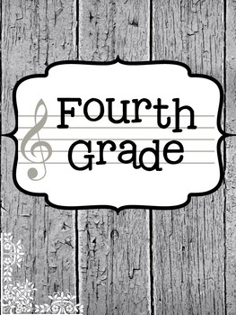 Music Teacher Binder Covers - Farmhouse Theme