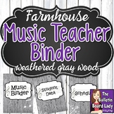 Music Teacher Binder Covers - Farmhouse Theme