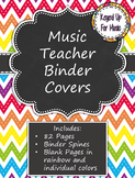 Music Teacher Binder Covers - Rainbow Chevron Chalkboard Design