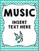 Music Teacher Binder Covers & Spines - Glitter & Chevrons
