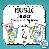 Music Teacher Binder Covers & Spines - Teal & Blooms
