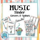 Music Teacher Binder Covers & Spines - Ginger & Waves
