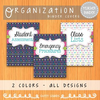 Music Teacher Binder Covers and Dividers {Arrows}