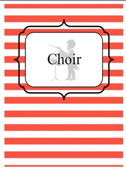 Music Teacher Binder Covers and Dividers - Chevron and Stripes