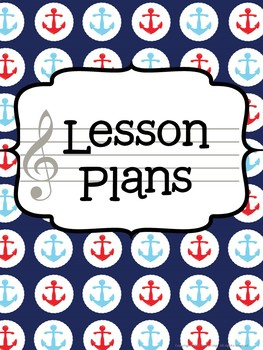 Music Teacher Binder - Nautical Theme