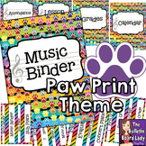 Music Teacher Binder - Paw Print Theme