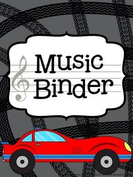 Music Teacher Binder - Racing Theme